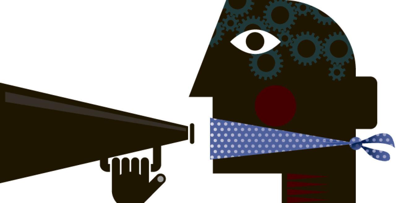 Meinungsfreiheit - © Grafik: Gettyimages /  johnwoodcock