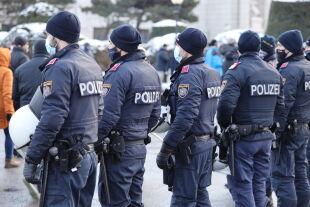 Polizei und Demo - © Foto: picturedesk.com / Karl Schöndorfer