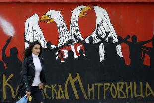 Mitrovica Wahlkampf - © Foto: Darko Vojinovic / AP / picturedesk.com
