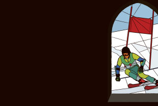 schifahrer - © Illustration: Rainer Messerklinger