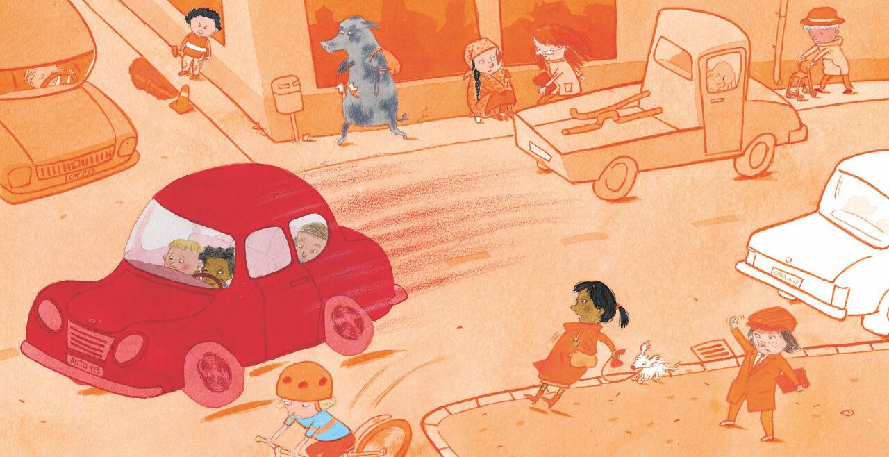 Wir-muessen-zur-Arbeit - © Illustration: Pija Lindenbaum / Klett Kinderbuch