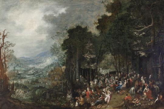 Johann Jakob Hartmann, Landschaft mit Festgesellschaft, undatiert - © Foto: Johannes Stoll / Belvedere, Wien