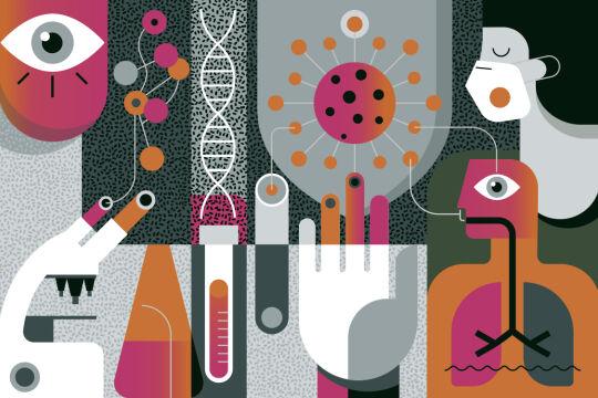 Corona Forschung - © Illustration: iStock/DrAfter123 (Bildbearbeitung: Rainer Messerklinger)