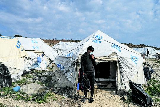 Kara Tepe - © Fotos: APA / AFP / Aris Messinis