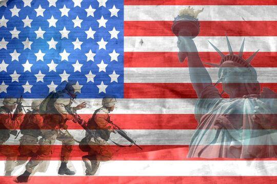 Amerika Krieg Flagge