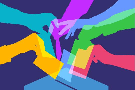 Wahlen und Demokratie - © Foto: iStock/smartboy10 (Bildbearbeitung: Rainer Messerklinger)