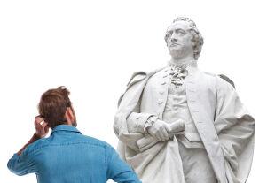 """goethe & ich - """"Goethe hat mit der Menschheit zu tun, mit einer Gedankenwelt und einer ästhetischen Welt, die allgemein relevant ist."""" - © gettyimages"""