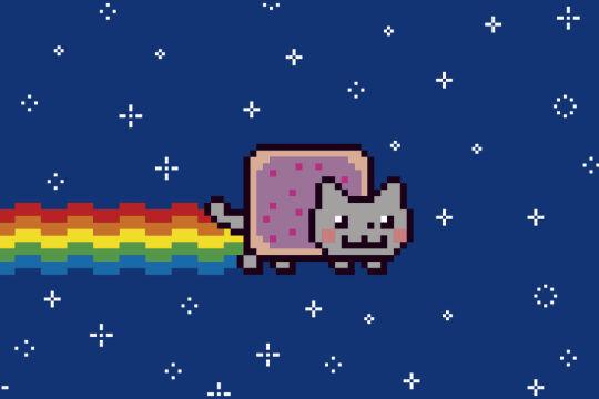 Nyan Cat - © Illustration: Rainer Messerklinger (nach einem GIF von Chris Torres)