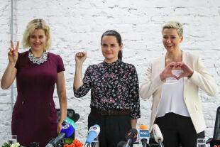 Belarus - Veronika Zepkalo, Swetlana Tichanowskaja und Maria Kolesnikowa - © Getty Images / Natalia Fedosenko\TASS