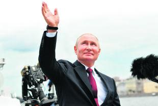 """Putin beschwört die Einheit mit Belarus und der Ukraine. Zu offerieren hat er aber nur """"autoritäre Stabilität"""". - © APA / AFP / SPUTNIK / Alexey Nikolsky"""