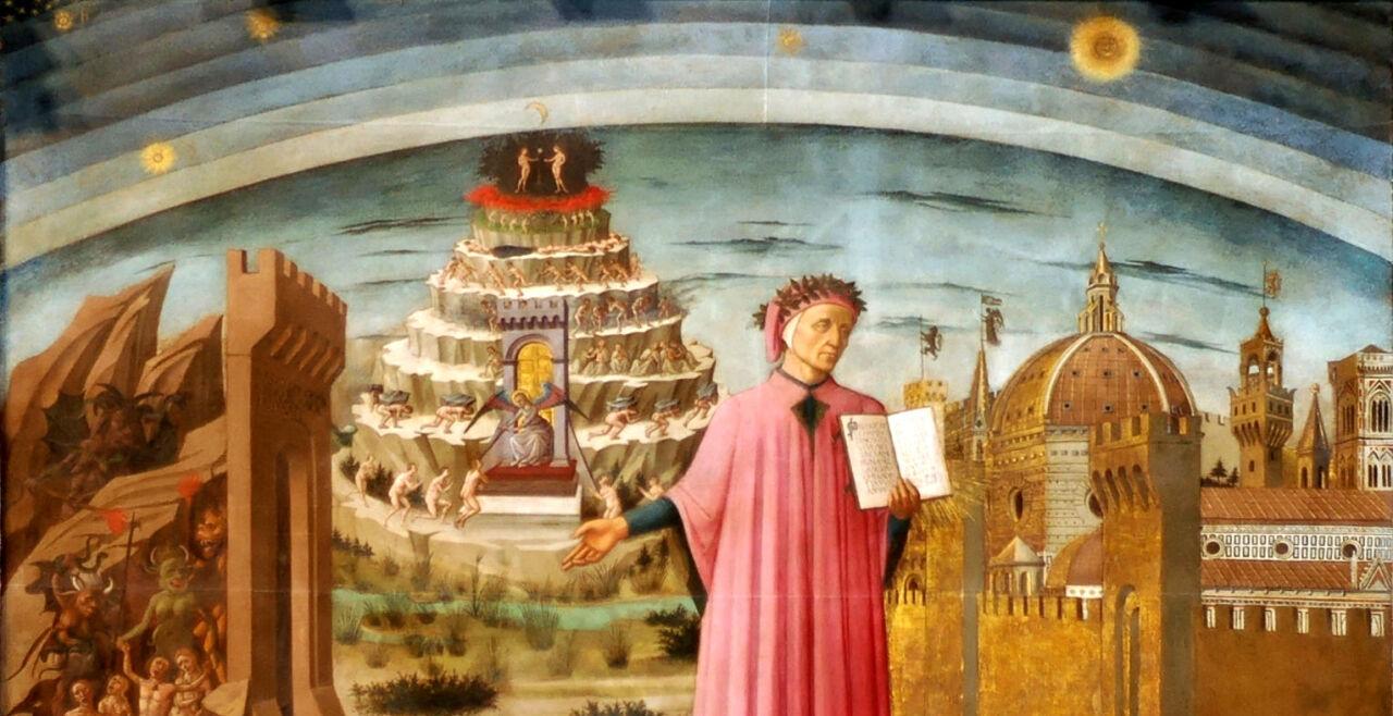 Dante Domenico di Michelino - © Foto: Santa Maria del Fiore in Florenz , Italien