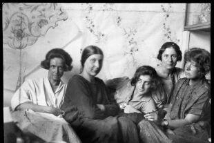 Charlotte Billwiller, Mathilde Flögl, Susi Singer, Marianne Leisching und Maria Likarz, 1924. - © Foto: © MAK