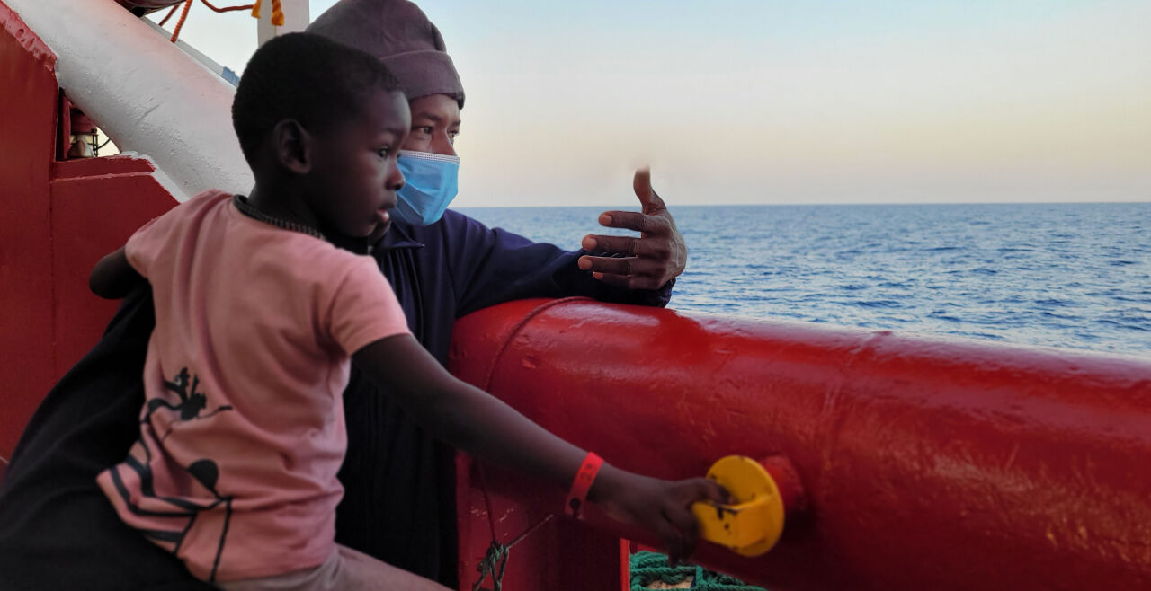 Hebamme  - © Foto: Laurence Bondard / sos mediterrane