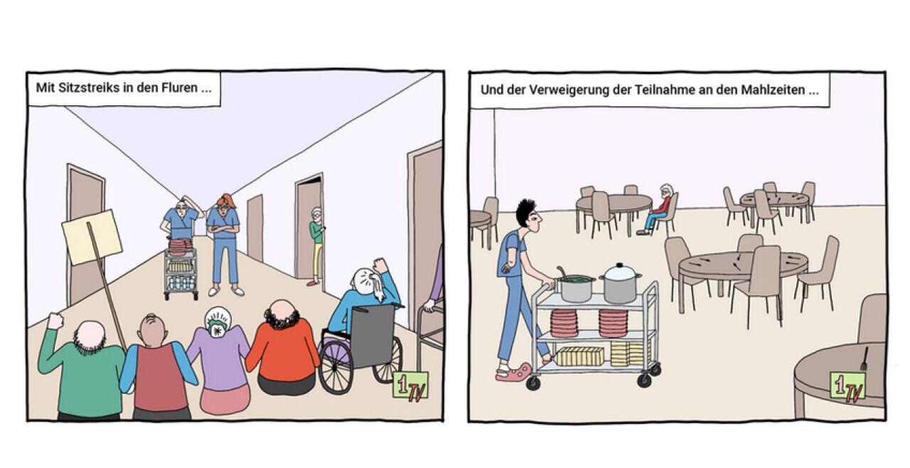 Widerstand ist zwecklos - © Illustration: Lea Loos / Avant Verlag