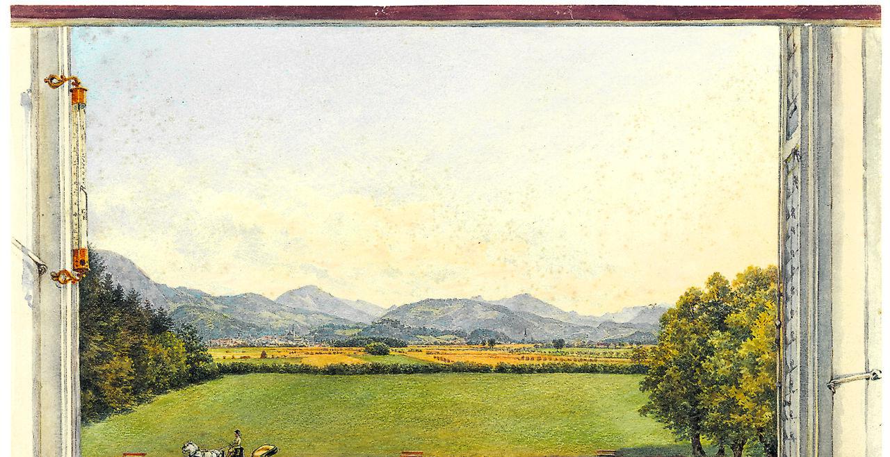 salzburg als royale wahlheimat - © Franz Alt 1872 Aquarell über Bleistift/Papier, Residenzgalerie Salzburg