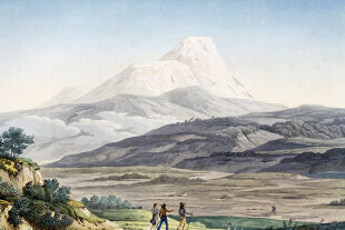 Ecuador - Der Vulkan Cayambe in der Region von Quito, Ecuador, 1810. - © Foto: Getty Images / DeAgostini